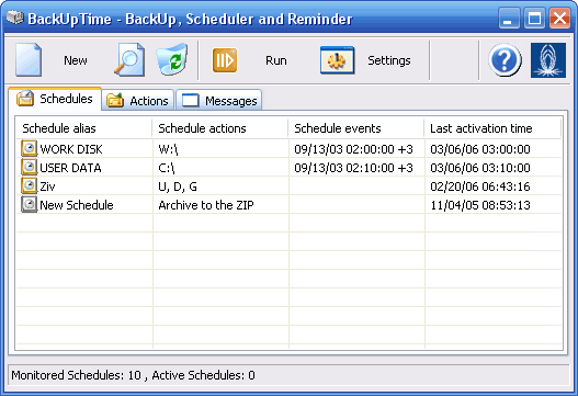 BackUpTime - Easy, yet powerful backup software