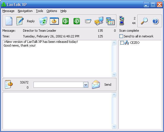 LanTalk XP - LAN Instant Messenger